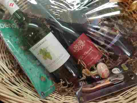 Today's Holiday Bazaar Basket for auction.