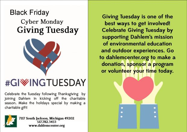 Join Dahlem for Giving Tuesday!
